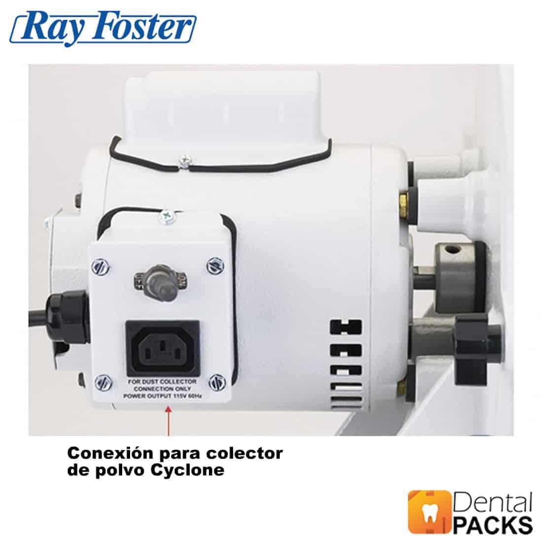 Recortadora-de-modelos-de-yeso-ray-foster-rayfoster-en-seco-deposito-dental-packs-mtd1-vista-trasera