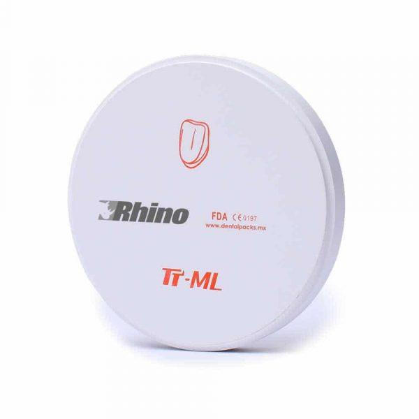 DISCO DE ZIRCONIA TT RHINO MDC DENTAL TT ML TOP TRANSLUCID 98 MM UPCERA
